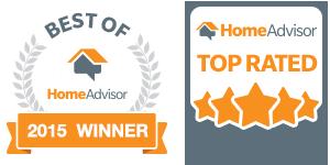 best of homeadvisor 2015 winner and homeadvisor top rated logos